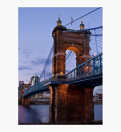 John A Roebling Bridge 1867 Photographic Print
