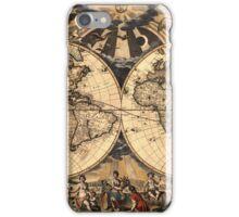 World Map 1665 iPhone Case/Skin
