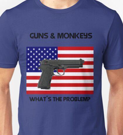 USA & Guns, what's the problem? Unisex T-Shirt