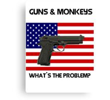 USA & Guns, what's the problem? Canvas Print