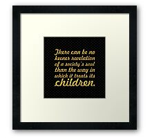 "There can be no... ""Nelson Mandela"" Inspirational Quote (Square) Framed Print"