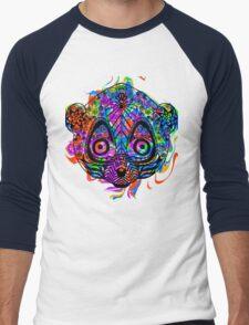 Colored hand drawn lemur Men's Baseball ¾ T-Shirt