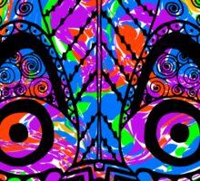 Colored hand drawn lemur Sticker