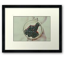 Jar Of No Bake Cheesecake With Blueberry Jam Framed Print
