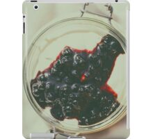 Jar Of No Bake Cheesecake With Blueberry Jam iPad Case/Skin