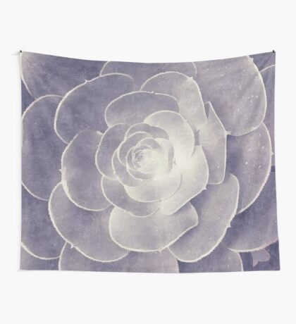 Monochromatic Succulent Wall Tapestry
