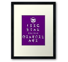 KEEP CALM because HE LOVES YOU (in SDFSDGF) Framed Print