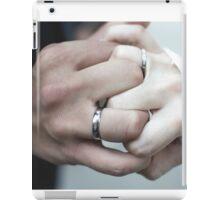 Wedding Day - Interlocked Ring Fingers iPad Case/Skin