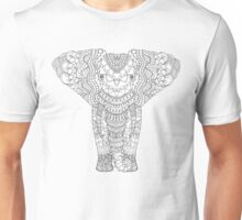 Fancy hand drawn elephant head. Unisex T-Shirt