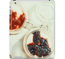 Jars Of No Bake Cheesecake With Blueberry And Strawberry Jam iPad Case/Skin