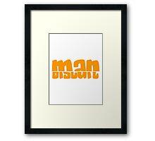 Half Man Half Biscuit orange Framed Print