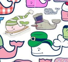 Vineyard Vines Multi Whale Print Sticker
