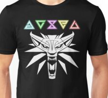 The Witcher signs and wolf Unisex T-Shirt
