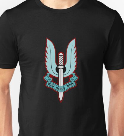Special Air Service (Blue - No Background)  Unisex T-Shirt