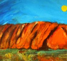 Uluru Dreaming Sticker