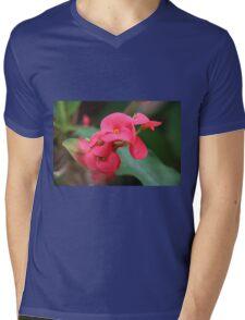 pink flower Mens V-Neck T-Shirt
