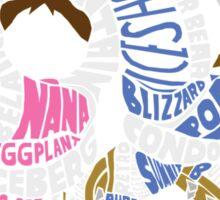 Ice Climbers Typography Sticker