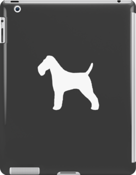 Wire Fox Terrier Silhouette (White) by Jenn Inashvili