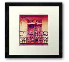 Casco Antiguo, Panama-- Old Door #3 Framed Print