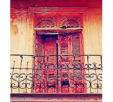 Casco Antiguo, Panama-- Old Door #3 Photographic Print