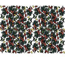 autumn leaves pattern Photographic Print