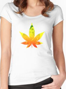 Legalize weed marijuana ganja Bob Marley shirt rastafari Women's Fitted Scoop T-Shirt