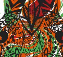 Hand drawn zentangle stylized giraffe Sticker