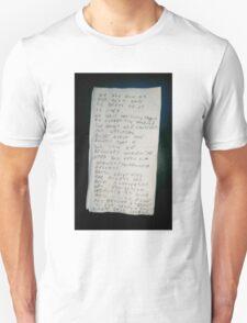 Death Grips Goodbye Note Unisex T-Shirt