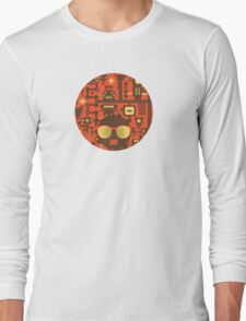 Robots red Long Sleeve T-Shirt
