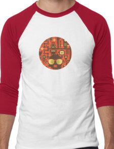Robots red Men's Baseball ¾ T-Shirt