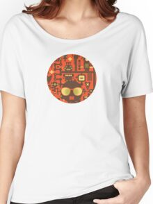 Robots red Women's Relaxed Fit T-Shirt