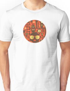 Robots red Unisex T-Shirt