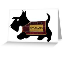 Commonwealth Games Opening Ceremony Scottie Dog 'Scotland' Greeting Card