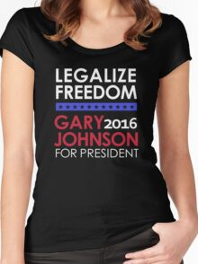 Legalize Freedom Vote Gary Johnson for President 2016 Women's Fitted Scoop T-Shirt