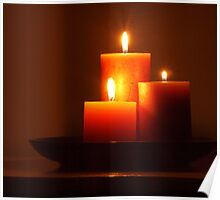 Warm Candlelight Poster