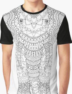 Fancy hand drawn elephant head. Graphic T-Shirt