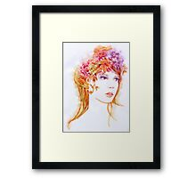 Autumn. Watercolor illustration Framed Print
