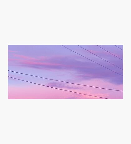 Cotton Candy Sky Photographic Print