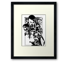 Stand By Will | Black and White Framed Print