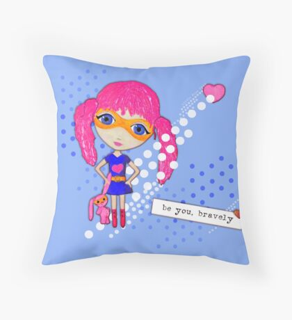 Bravely, She Took On The World Throw Pillow