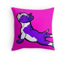 Boston Bull Terrier Puppy Purple Throw Pillow
