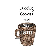 cuddling, cookies and coffee Photographic Print