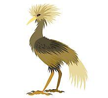 Blonde crane Photographic Print