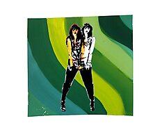 Green Wave Twinsies Photographic Print