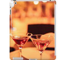 Martini glass on a table iPad Case/Skin