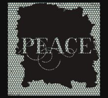 Peace.typography,,cool text,modern,trendy,pattern,design,contemporary art One Piece - Short Sleeve