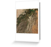 Niger River Inland Delta Mali Africa Satellite Image Greeting Card