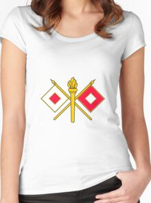 Signal Corps - Branch Insignia (United States Army) Women's Fitted Scoop T-Shirt