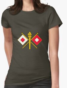 Signal Corps - Branch Insignia (United States Army) Womens Fitted T-Shirt