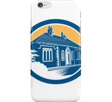 Medieval House Building in Bath Retro iPhone Case/Skin